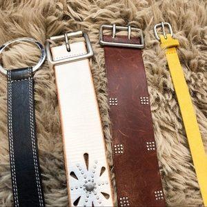 BUNDLE (4) Genuine Leather Medium Belts